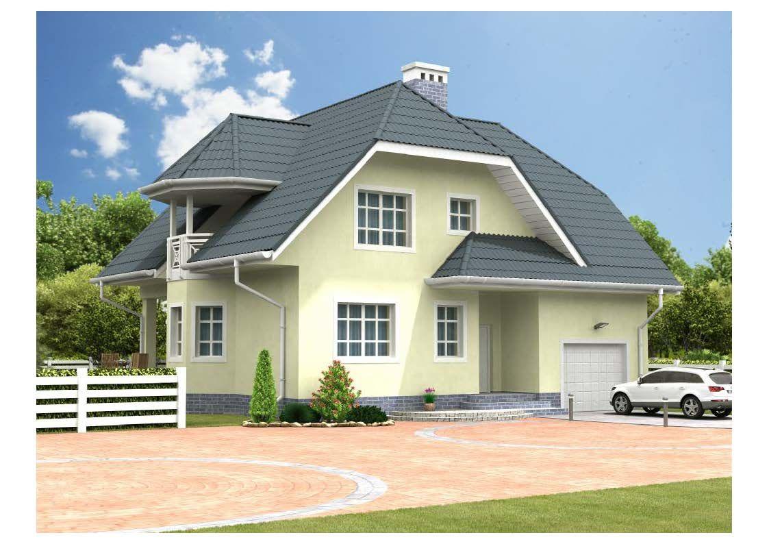 дом из газоблока v 2512 дом из газоблока v