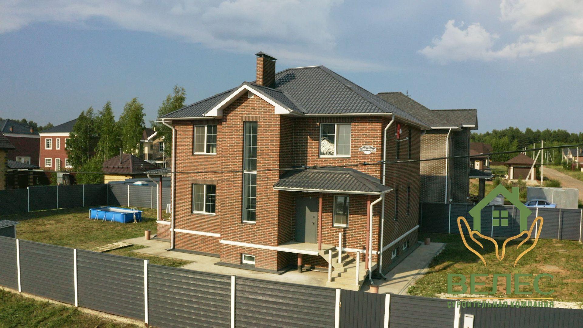 Дом из клееного бруса v-504.