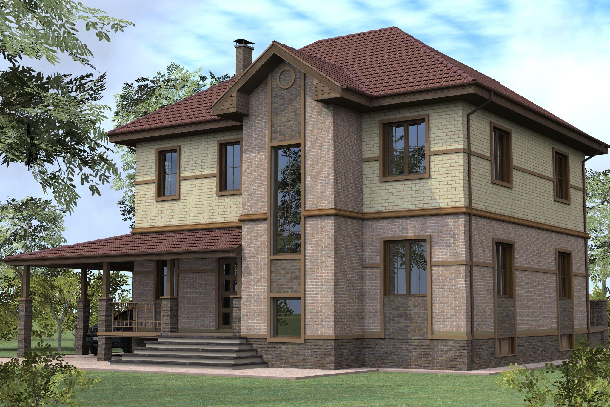 красивый проект двухэтажного дома фото правил
