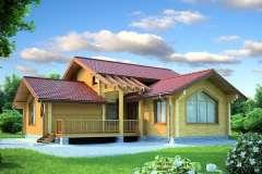 Дом из клееного бруса ОТ2-12