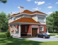 Дом из кирпича V-2501