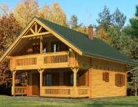 Дом из клееного бруса V058